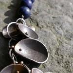 Necklaπce – collier – zilver- lapis lazuli-510x190x510 mm